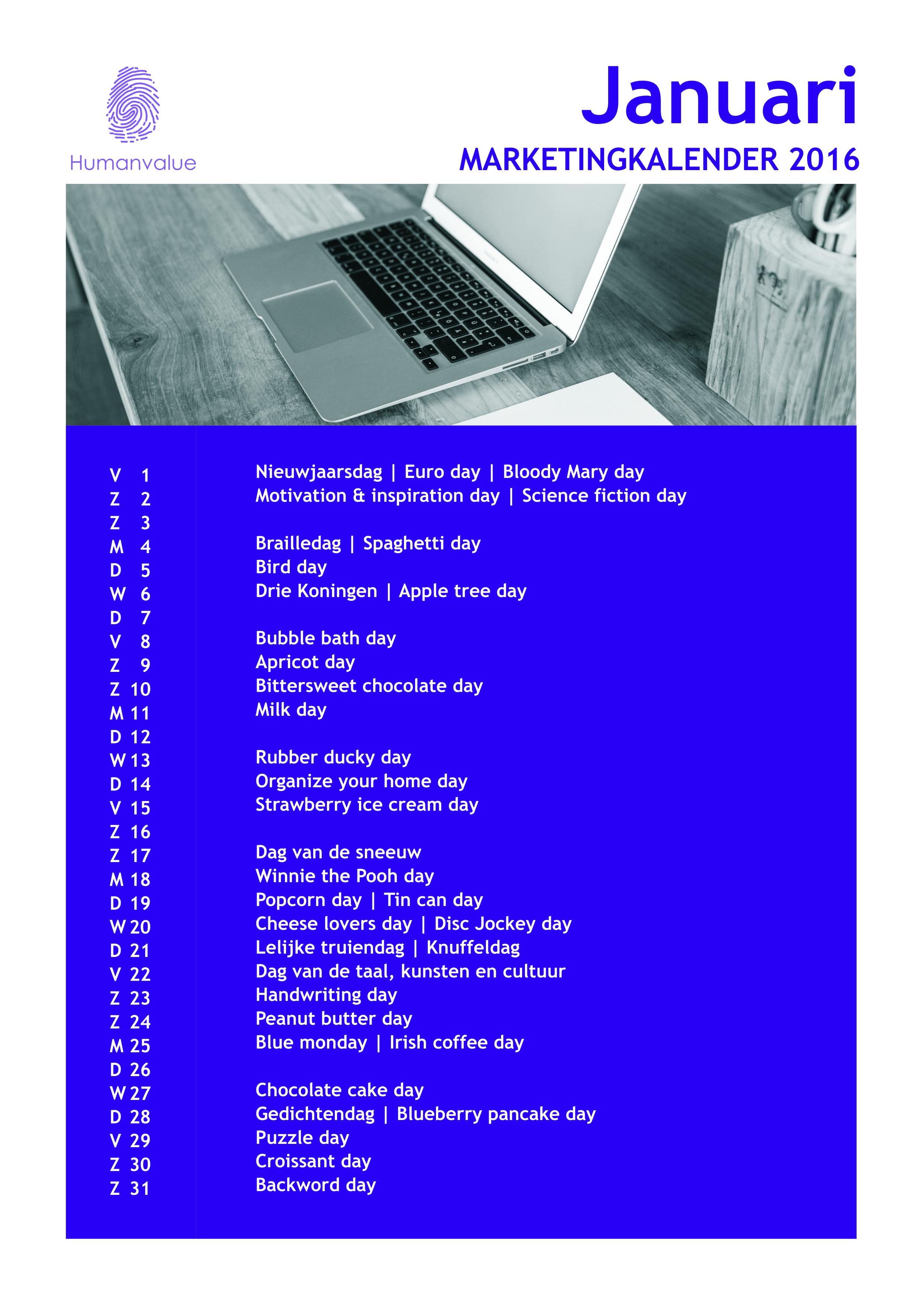 marketingkalender januari