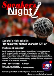 Speaker's Night Zakelijk: de basis voor succes voor elke ZZP-er