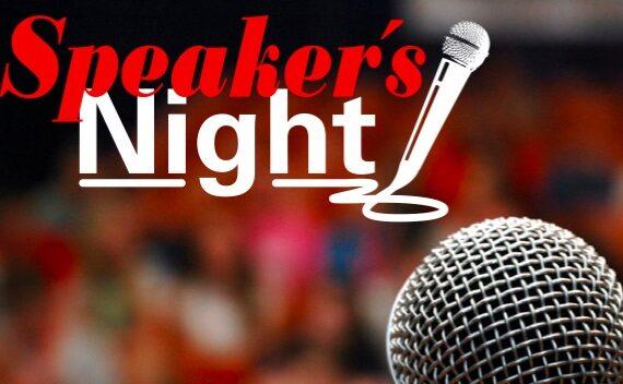 Speaker's Night Zakelijk: donderdag 22 september