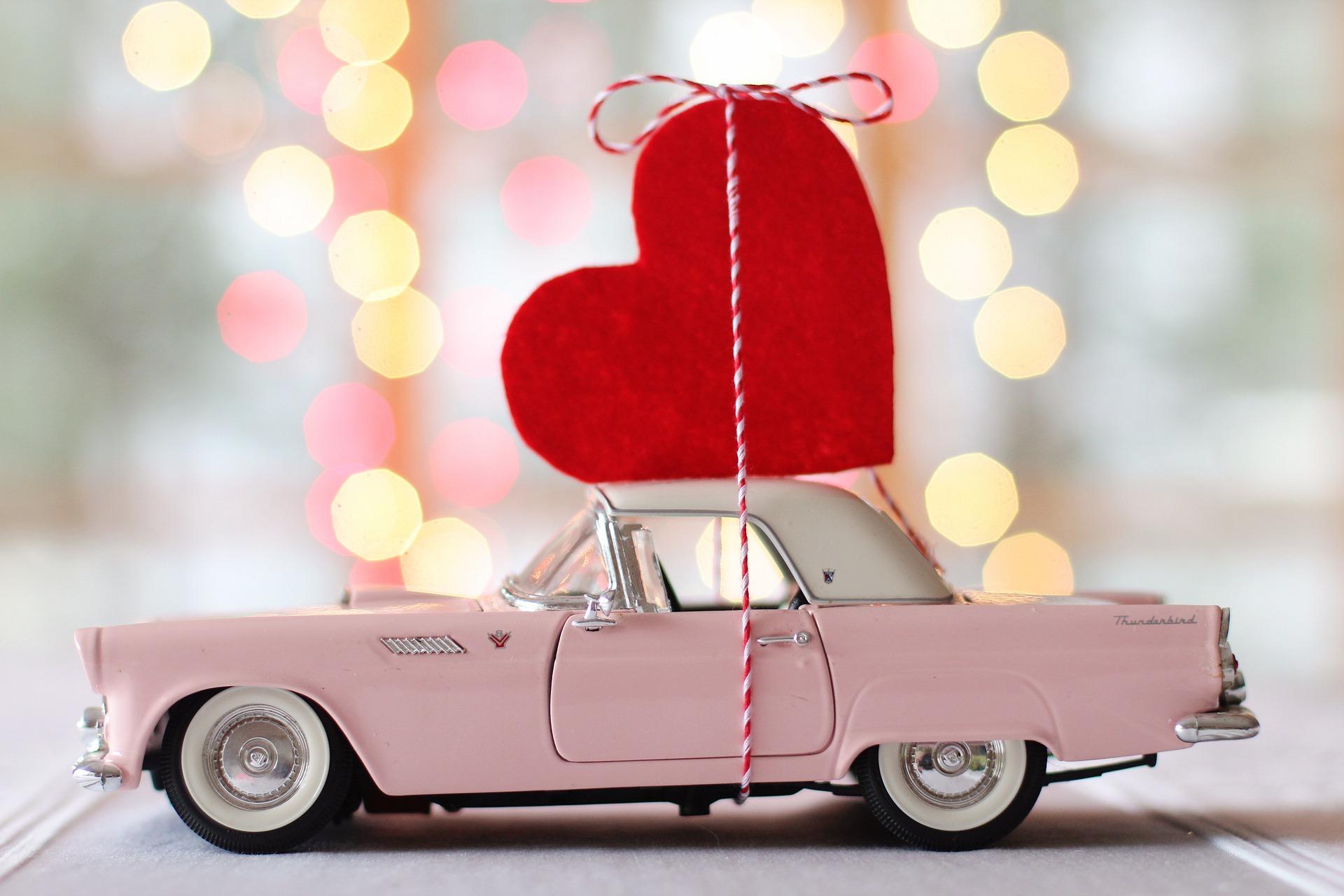 Inhaken op Valentijnsdag foto