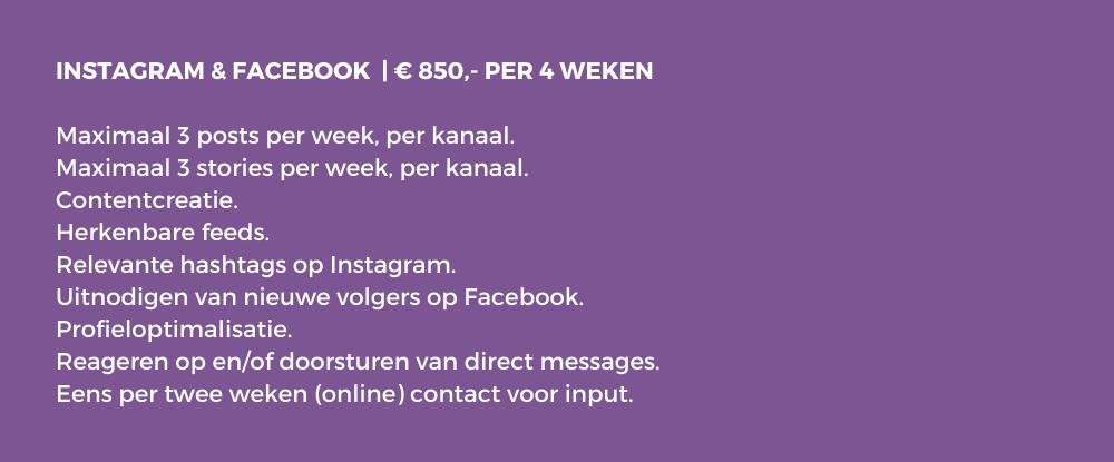 Social media management Facebook pakketa